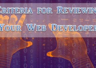 criteria for reviewing web developers